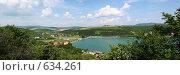 Купить «Панорама озера Абрау», фото № 634261, снято 12 ноября 2018 г. (c) Дмитрий Натарин / Фотобанк Лори