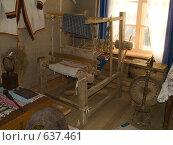 Ткацкий станок и прялка (2005 год). Редакционное фото, фотограф Вячеслав Потапов / Фотобанк Лори