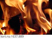 Пламя в камине. Стоковое фото, фотограф Татьяна Князева / Фотобанк Лори