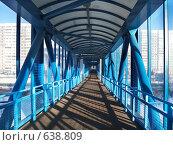 Купить «Наземный пешеходный мост внутри через Рублевское шоссе, Москва», фото № 638809, снято 1 января 2009 г. (c) Fro / Фотобанк Лори