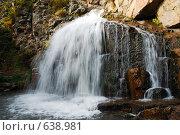 Горный Алтай.Водопад. Стоковое фото, фотограф Юрий Бульший / Фотобанк Лори