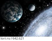 Спиральная галактика. Стоковая иллюстрация, иллюстратор Карелин Д.А. / Фотобанк Лори