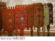 Купить «Расписные  прялки», фото № 645661, снято 20 ноября 2008 г. (c) Николай Гернет / Фотобанк Лори