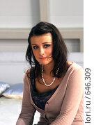 Купить «Певица Елена Кауфман», фото № 646309, снято 1 ноября 2004 г. (c) Сергей Лаврентьев / Фотобанк Лори