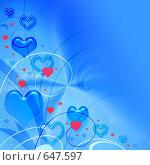 Купить «Фон с сердечками», иллюстрация № 647597 (c) ElenArt / Фотобанк Лори