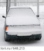 Купить «Автомобиль в снегу», фото № 648213, снято 11 декабря 2018 г. (c) Никончук Алексей / Фотобанк Лори