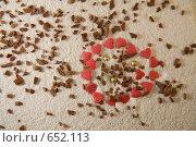 Купить «Круг из сердец», фото № 652113, снято 30 ноября 2008 г. (c) Смирнова Ирина / Фотобанк Лори