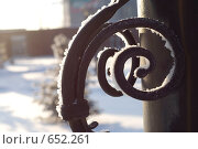 Кованый узор. Стоковое фото, фотограф Стрельцова Екатерина / Фотобанк Лори