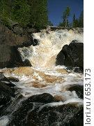 Купить «Водопад на р. Тохмайоки», фото № 653173, снято 13 июня 2006 г. (c) Алина Анохина / Фотобанк Лори