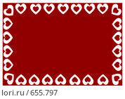 Рамка с сердцами. Стоковая иллюстрация, иллюстратор Ирина Китаева / Фотобанк Лори