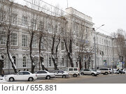 Купить «Томский политехнический университет, главный корпус», фото № 655881, снято 14 января 2009 г. (c) Александр Бурдовицин / Фотобанк Лори