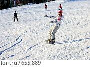 Купить «Сноубордист», фото № 655889, снято 9 января 2009 г. (c) Юлия Машкова / Фотобанк Лори