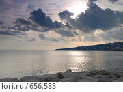 Купить «Морcкой пейзаж перед закатом», фото № 656585, снято 6 января 2009 г. (c) Криволап Ольга / Фотобанк Лори