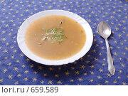 Купить «Суп из рыбных консервов», фото № 659589, снято 17 января 2009 г. (c) Андрей Доронченко / Фотобанк Лори