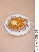 Купить «Ингредиенты для рыбных оладьев», фото № 659681, снято 17 января 2009 г. (c) Андрей Доронченко / Фотобанк Лори