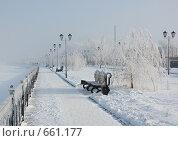 Купить «Набережная Затона в г. Астрахань», фото № 661177, снято 15 января 2009 г. (c) Кирилл Федорин / Фотобанк Лори