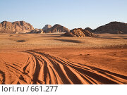 В пустыне Вади Рам , Иордания (2008 год). Стоковое фото, фотограф Николай Коржов / Фотобанк Лори