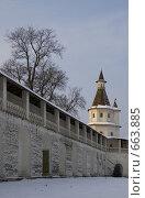 Купить «Новый Иерусалим. Фрагмент крепостной стены», фото № 663885, снято 8 января 2009 г. (c) Елена Прокопова / Фотобанк Лори