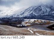 Купить «Снег в горах Америки», фото № 665249, снято 11 октября 2008 г. (c) Estet / Фотобанк Лори