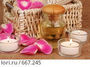 Ароматическое масло и свечи. Стоковое фото, фотограф Елена Иценко / Фотобанк Лори