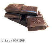Куски дешёвого шоколада. Стоковое фото, фотограф Azaria Iounaev / Фотобанк Лори