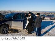 Освящение автомобиля (2009 год). Редакционное фото, фотограф Александр Лядов / Фотобанк Лори