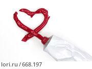 Сердце из тюбика. Стоковое фото, фотограф Kate.M / Фотобанк Лори
