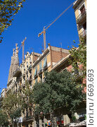 Купить «Церковь Саграда Фамилия. Испания. Барселона», фото № 669693, снято 15 сентября 2008 г. (c) АЛЕКСАНДР МИХЕИЧЕВ / Фотобанк Лори