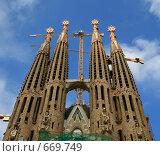 Купить «Церковь Саграда Фамилия. Испания. Барселона», фото № 669749, снято 21 сентября 2008 г. (c) АЛЕКСАНДР МИХЕИЧЕВ / Фотобанк Лори