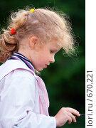 Купить «Портрет девочки», фото № 670221, снято 24 июня 2008 г. (c) Юрий Брыкайло / Фотобанк Лори