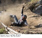 Упавший велосипедист. Стоковое фото, фотограф Смирнов Владимир / Фотобанк Лори