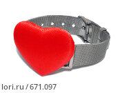 Купить «Часы с сердцем», фото № 671097, снято 16 декабря 2008 г. (c) Кекяляйнен Андрей / Фотобанк Лори