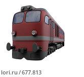 Купить «Красный локомотив», иллюстрация № 677813 (c) ИЛ / Фотобанк Лори