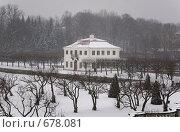 Дворец Марли в снегу (2009 год). Редакционное фото, фотограф Илларионов Андрей / Фотобанк Лори