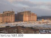 Купить «Санкт - Петербург. Строительство  жилых домов в Приморском районе», эксклюзивное фото № 681009, снято 30 января 2009 г. (c) Румянцева Наталия / Фотобанк Лори