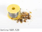 Купить «Катушка с оловом и канифоль», фото № 681129, снято 31 января 2009 г. (c) Сергей Новиков / Фотобанк Лори