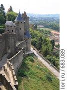 Купить «Замок Каркассон.Франция.», фото № 683089, снято 18 сентября 2008 г. (c) АЛЕКСАНДР МИХЕИЧЕВ / Фотобанк Лори