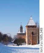 Смоленская крепостная стена в городском парке зимой (юго-западная часть крепостной стены), фото № 685349, снято 3 февраля 2009 г. (c) Примак Полина / Фотобанк Лори