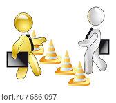 Купить «Граница безопасности между партнерами», иллюстрация № 686097 (c) Олеся Сарычева / Фотобанк Лори