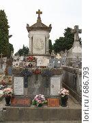 Купить «Кладбище возле замка Каркассон.Франция.», фото № 686793, снято 18 сентября 2008 г. (c) АЛЕКСАНДР МИХЕИЧЕВ / Фотобанк Лори