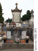 Купить «Кладбище возле замка Каркассон.Франция.», фото № 686901, снято 18 сентября 2008 г. (c) АЛЕКСАНДР МИХЕИЧЕВ / Фотобанк Лори