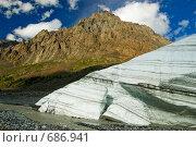 Купить «Язык ледника Маашей. Горный Алтай», фото № 686941, снято 23 июля 2008 г. (c) Селигеев Андрей Иванович / Фотобанк Лори