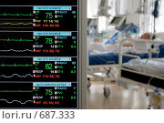 Купить «Мониторинг в палате интенсивной терапии», фото № 687333, снято 25 мая 2007 г. (c) Beerkoff / Фотобанк Лори