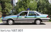 Купить «Патрульный автомобиль Узбекистана», фото № 687801, снято 3 июня 2008 г. (c) Виктор Водолазький / Фотобанк Лори