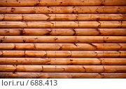 Часть бревенчатого дома как фон. Стоковое фото, фотограф Константин Хрипунков / Фотобанк Лори