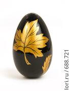 Купить «Черное пасхальное яйцо с золотым рисунком», фото № 688721, снято 16 января 2008 г. (c) Юрий Пономарёв / Фотобанк Лори