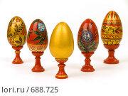 Цветные пасхальные яйца. Стоковое фото, фотограф Юрий Пономарёв / Фотобанк Лори
