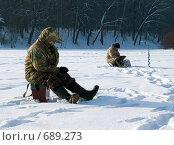 Купить «Зимняя рыбалка», фото № 689273, снято 5 февраля 2009 г. (c) Кирпинев Валерий / Фотобанк Лори