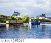 Купить «Брод через реку», фото № 690525, снято 23 января 2019 г. (c) Вадим Кондратенков / Фотобанк Лори
