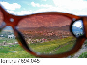 Вид сквозь очки (2008 год). Стоковое фото, фотограф семен плужник / Фотобанк Лори